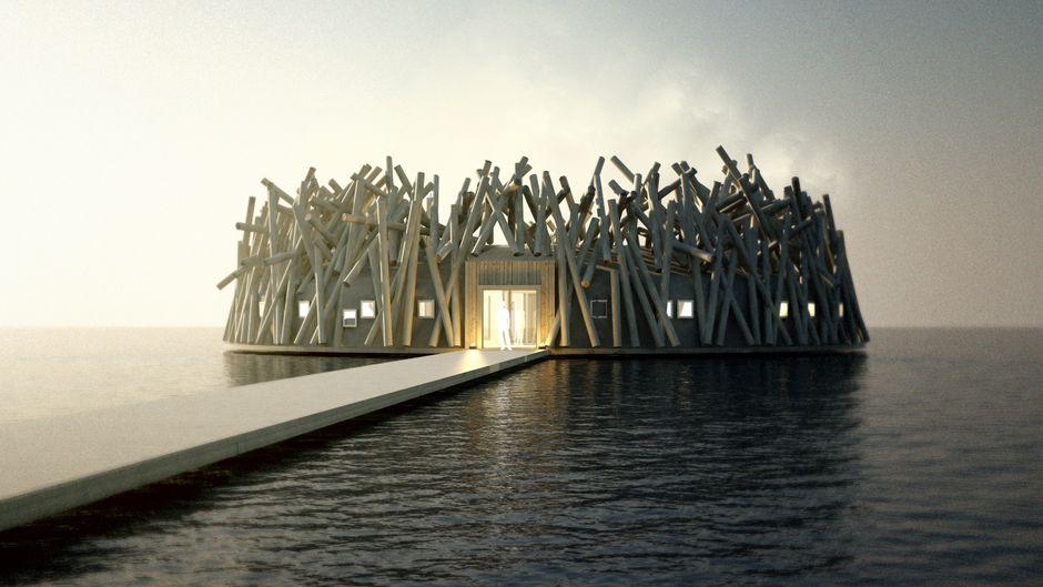 Das neue, nachhaltige Hotel Arctic Bath in Lappland.