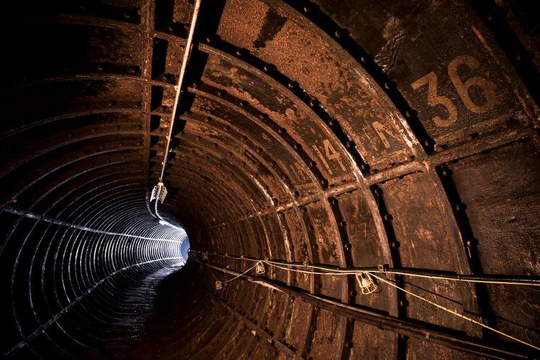 Tunnel unter der Themse.