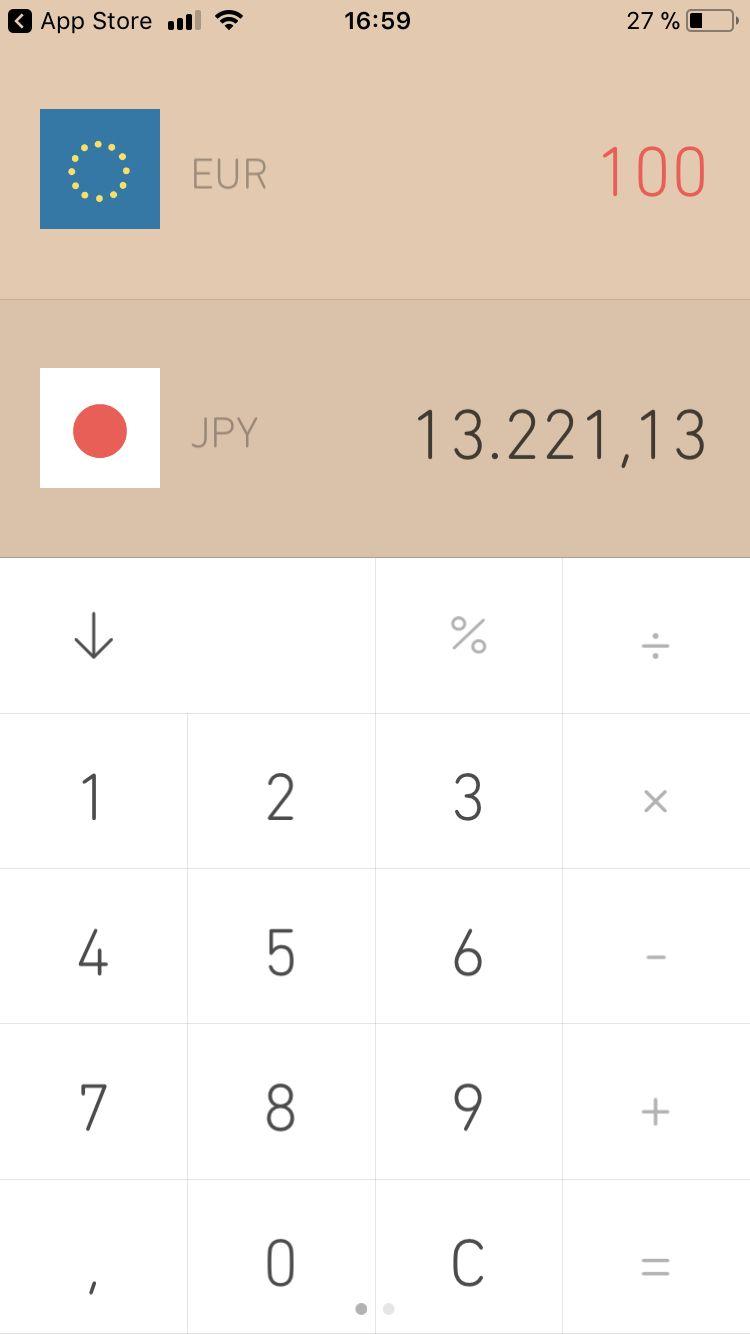 Mit dem Währungsrechner behältst du den Überblick über deine Finanzen.