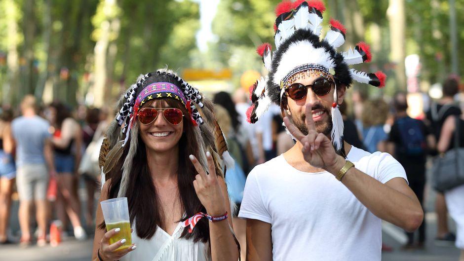 Besucher beim Lollapalooza Festival Berlin