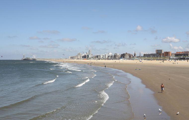 Der Strand von Scheveningen in Den Haag