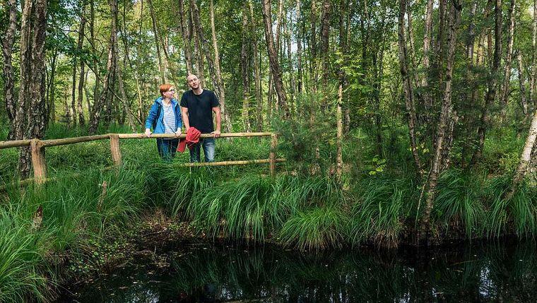 Frösche beobachten im Ribnitzer Moor