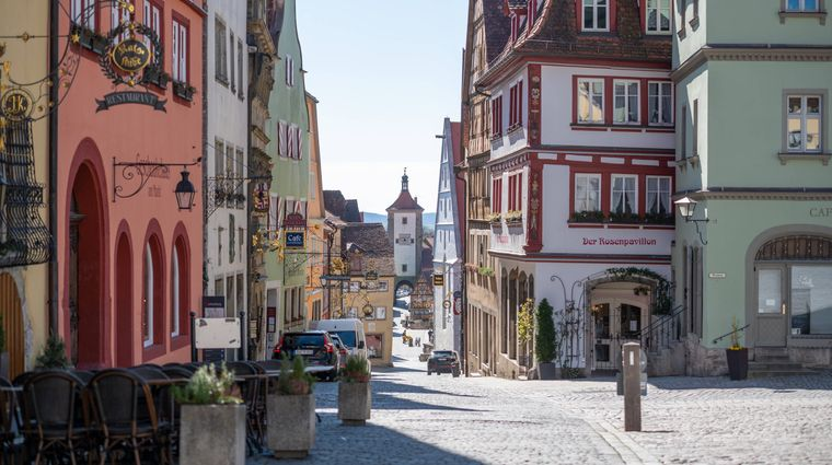 Rothenburg ob der Tauber in Bayern.