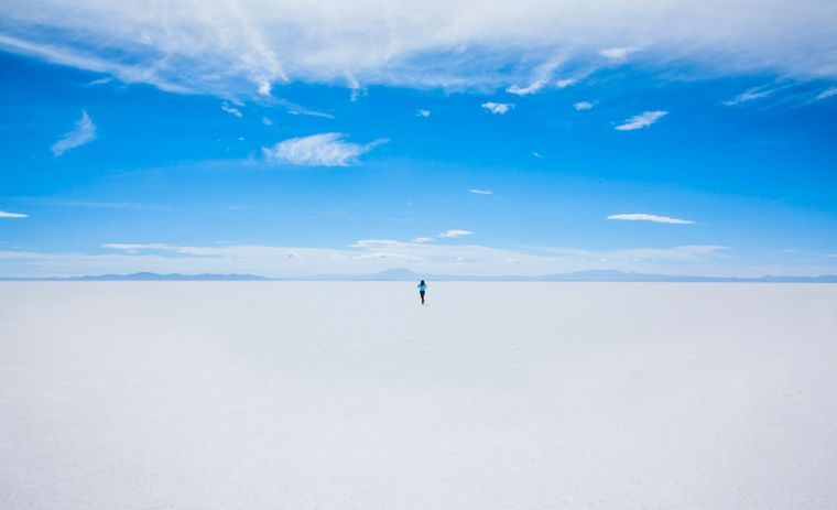 Salzwüste Salar de Uyuni in Bolivien