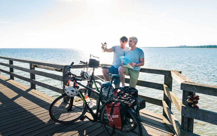 Fahrradweg an der Ostsee