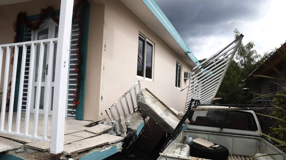 Bereits am Montag sorgte ein Erdbeben für Zerstörung in Puerto Rico.