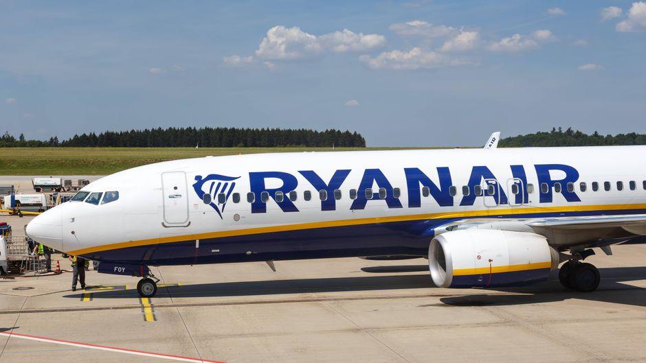 Ryanair-Boeing 737-800 am Flughafen Frankfurt Hahn. (Symbolfoto)