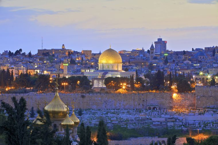 Blick über Jerusalem vom Ölberg aus.