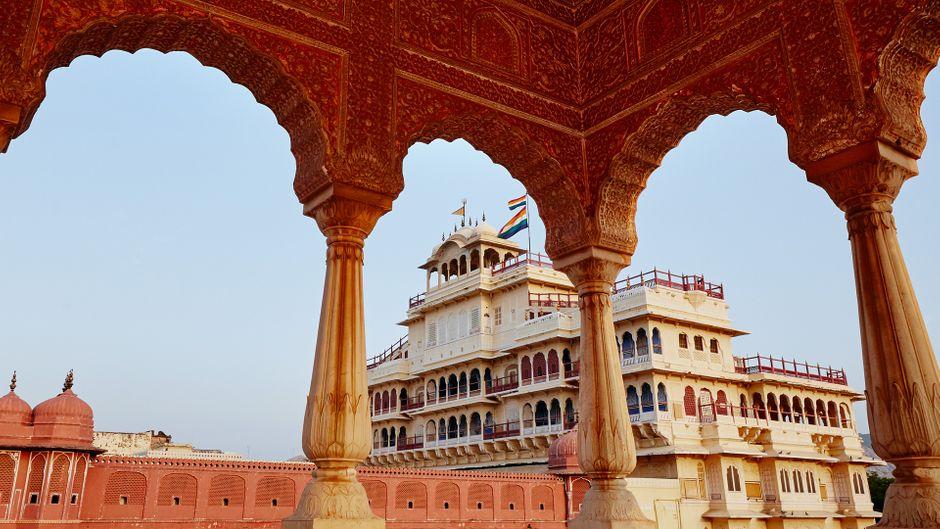 Der Stadtpalast in Jaipur, Indien.