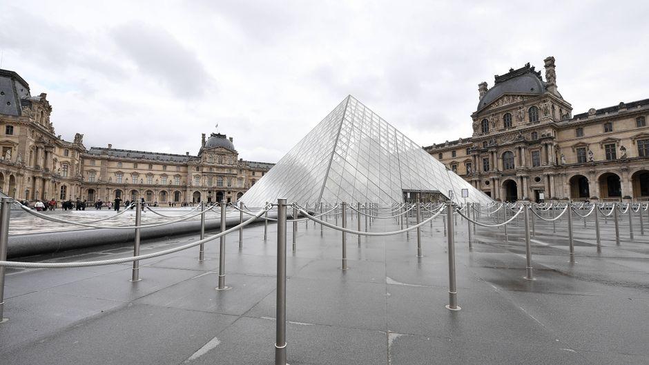 Der Louvre in Paris ist ebenfalls geschlossen.