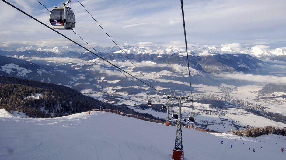 Skigebiet Kronplatz im Pustertal in Südtirol