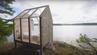 Gläserne Hütte in Schweden.