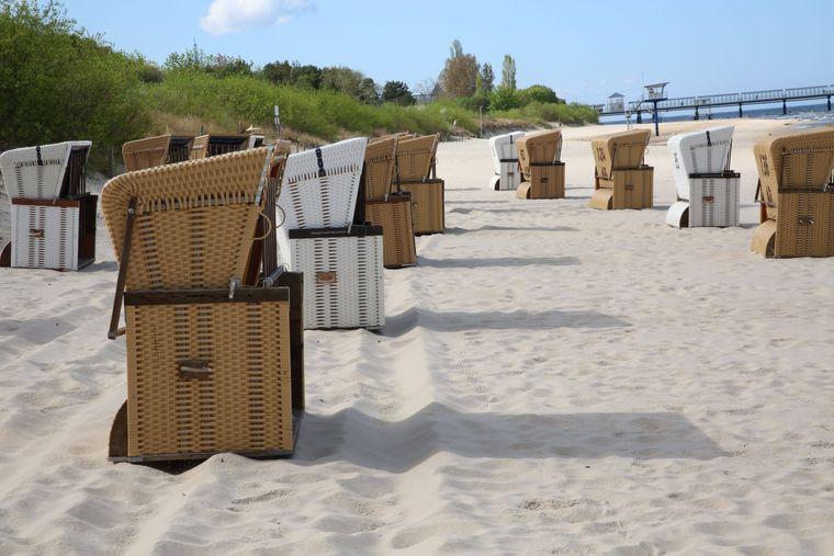Mit dem Rad kommst du auch zum Greifswalder Strand an der Ostsee.