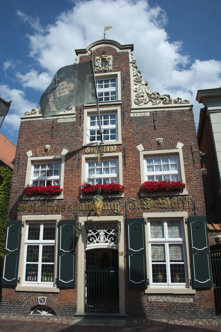 Das Haus Samson gilt als eines der schönsten Häuser der Stadt Leer.