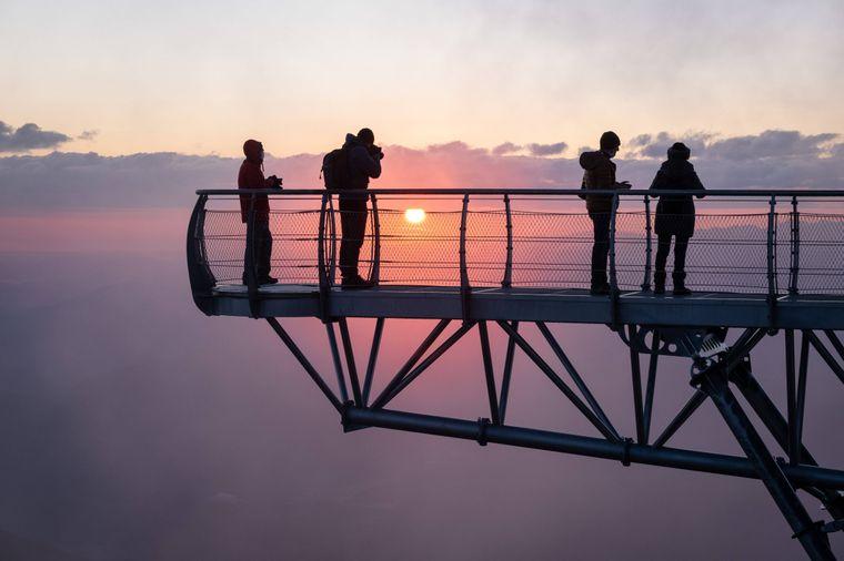 Sonnenuntergang auf dem Pic du Midi.