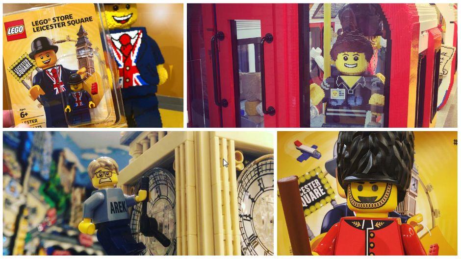 Lego-Figuren und Lego-Modelle auf 914 Quadratmetern: Der Lego Store am Leicester Square ist der größte der Welt.