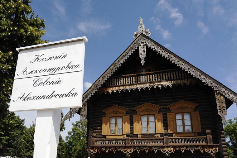 Ein Stück Russland in Potsdam: Die Kolonie Alexandrowka mit Holzhäusern.