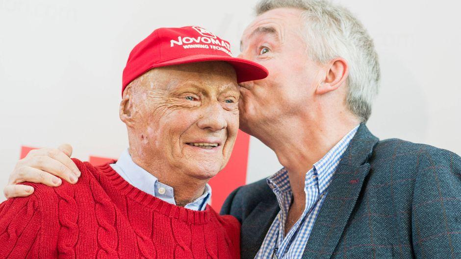 Der Ryanair-Vorsitzende Michael O'Leary (rechts) und Laudamotion-CEO Niki Lauda.