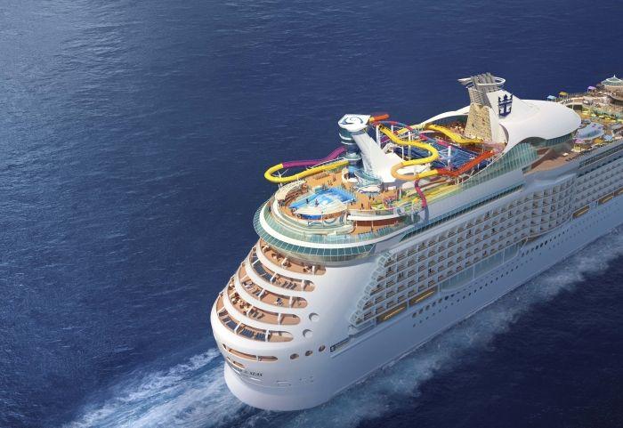 """Das Schiff """"Navigator of the Seas"""" bekommt die weltweit längste Kreuzfahrt-Wasserrutsche."""