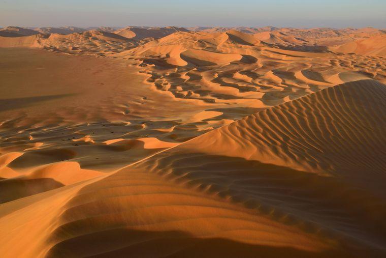 Sanddünen in der Rub-al-Chali-Wüste.