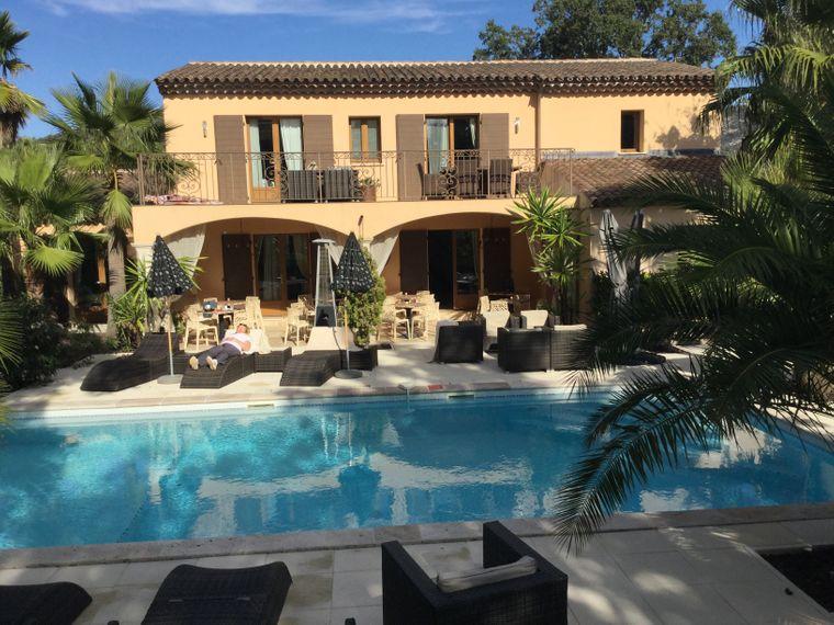 Pool und Hauptvilla, Hotel Roberto Geissini, Saint Tropez