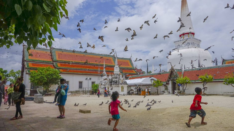 Tempel Wat Phra Mahathat Woramahawihan in Thailand