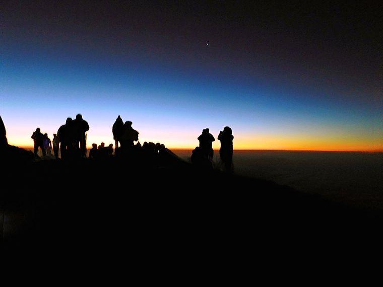 Sonnenaufgang Vulkan Acatenango.