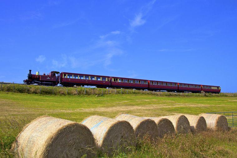 Eisenbahn-Nostalgie pur findet ihr auf der Isle of Man.