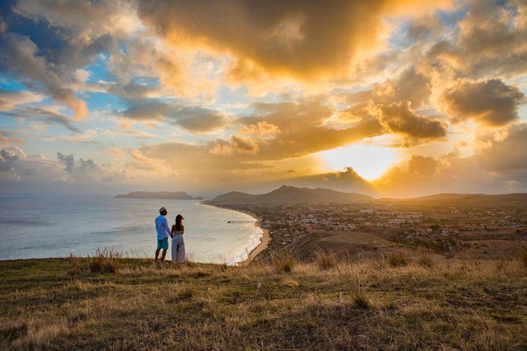 Neun Kilometer Glück pur: Der goldene Strand auf Porto Santo.