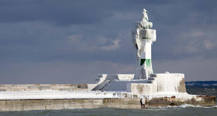 Der Leuchtturm von Sassnitz auf Rügen