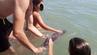 """Die Tierschutzorganisation """"Equinac"""" veröffentlichte ein Foto, auf dem Badegäste mit den Baby-Delfin spielen."""