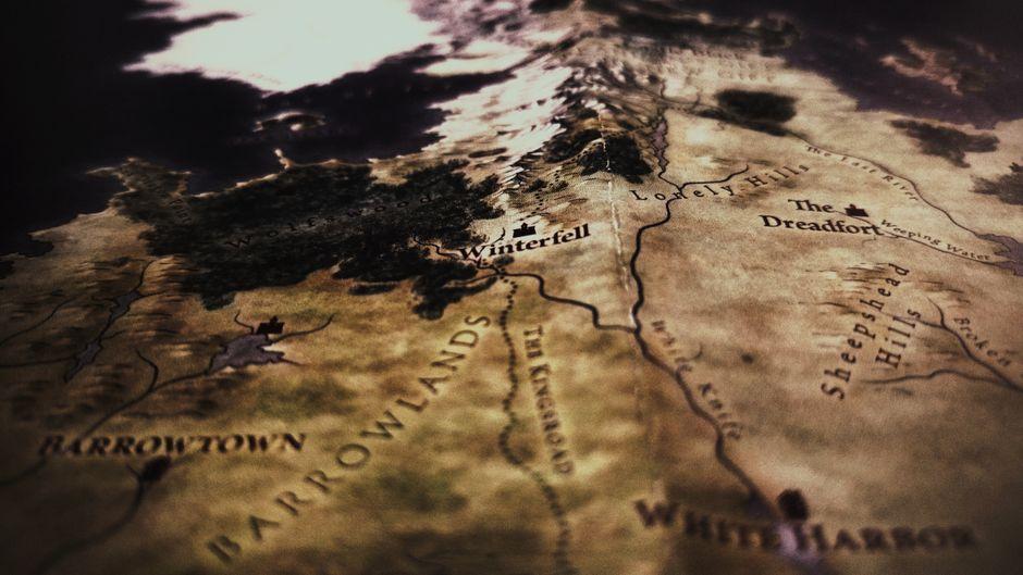 Die fiktive Landkarte der Sieben Königslande.