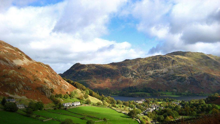 Das Dorf Glenridding im englischen Lake District.