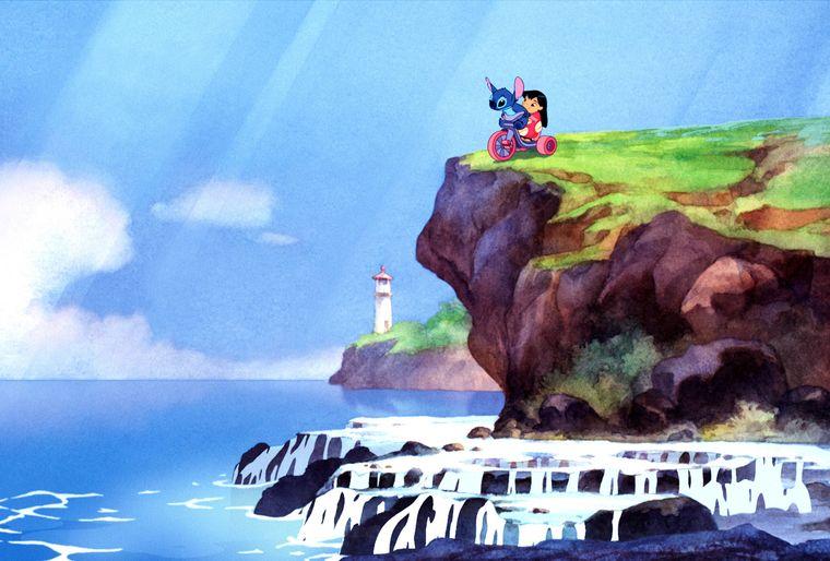 Das kleine Mädchen und sein blauer Freund erleben ihre Abenteuer im Paradies von Hawaii.