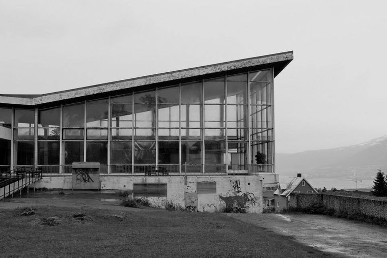 Alfheim Schwimmbad in Tromsø, Norwegen.