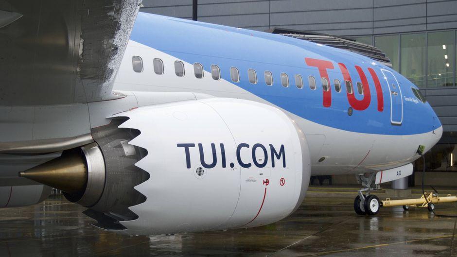 Eine Boeing 737 Max von Tui.