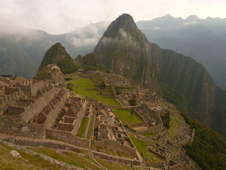 Die Inkastadt Machu Picchu in Peru.