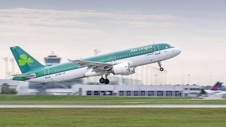 Ein Airbus A320-214 der Airline Aer Lingus.
