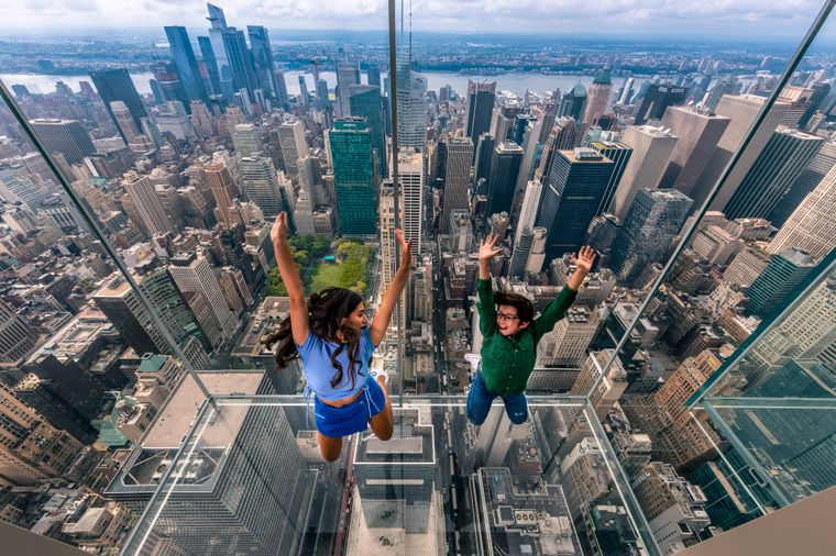 Glasaufzug in New York City