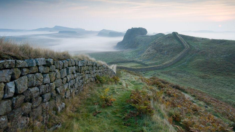 Der Hadrianswall in Northumberland.