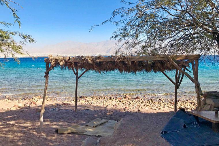 Der Strand in Eilat.