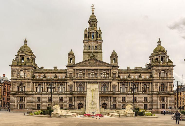 Die Glasgow City Chambers sind das Rathaus der schottischen Stadt.