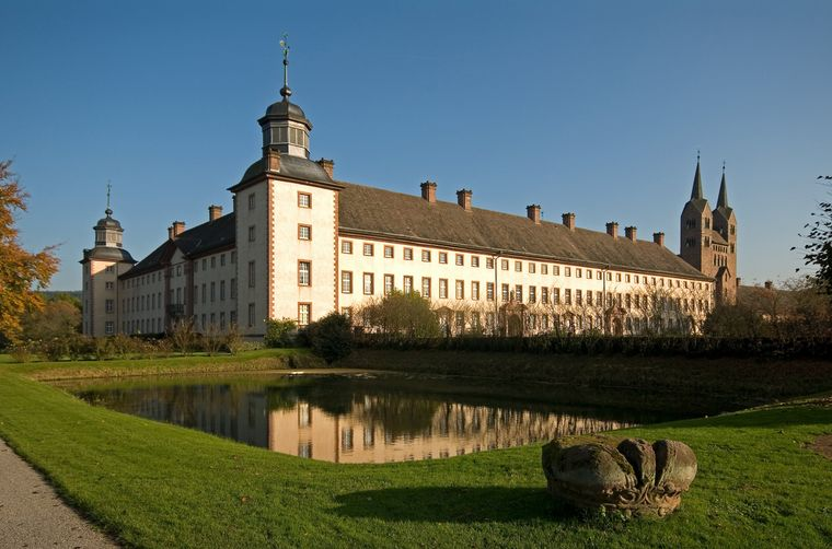 Seit 2014 steht Schloss Corvey auf der Liste des Unesco-Welterbes.