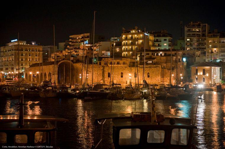 Der Venizianische Hafen in Heraklion.