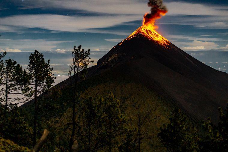 Ein Highlight in Guatemala: Der Vulkan Acatenango.