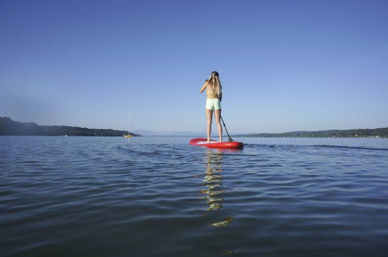 So schön ist es beim Stand-up-Paddeln auf dem Starnberger See.