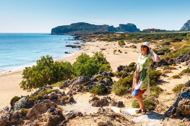 Der Falassarna Beach gehört zu den schönsten Stränden auf Kreta.