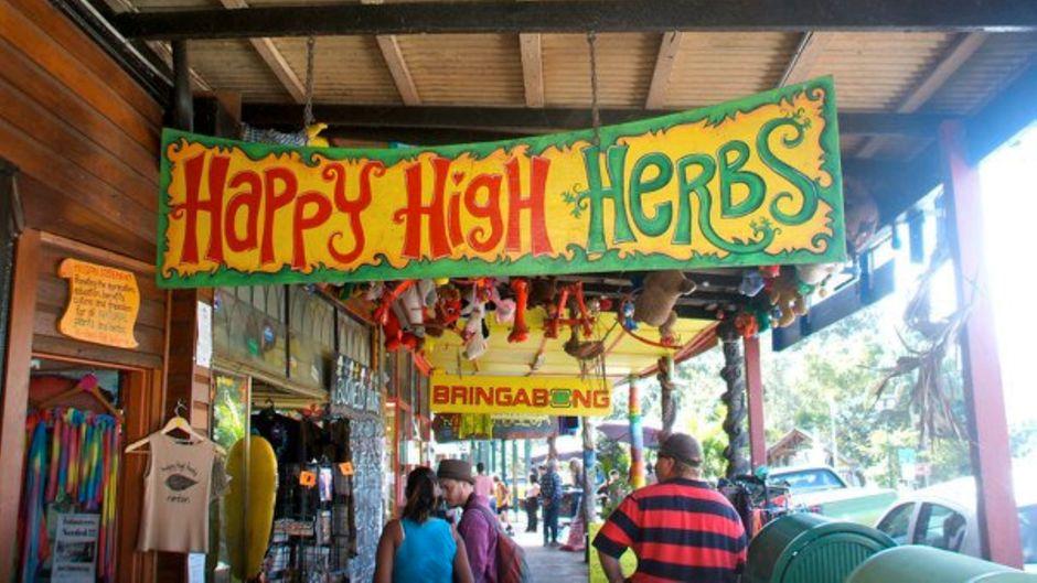 Das Kifferparadies Australiens: In Nimbin wird relativ schnell klar, wofür das Dorf bekannt ist.