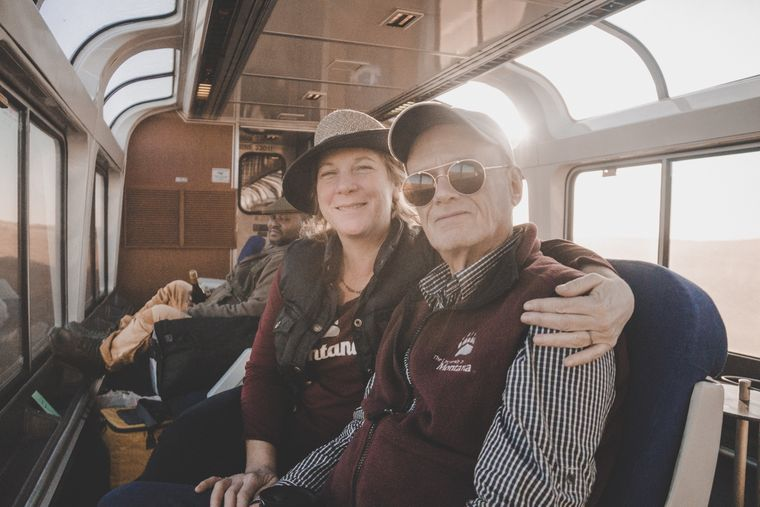 Jerry und Liz lieben das entschleunigte Reisen mit dem Empire Builder.