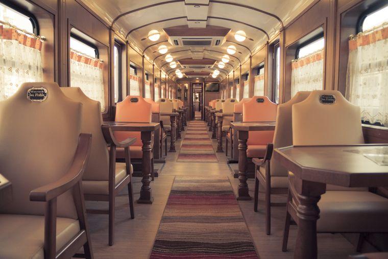 Der Robla-Express wurde im Oldtimer-Stil gebaut.